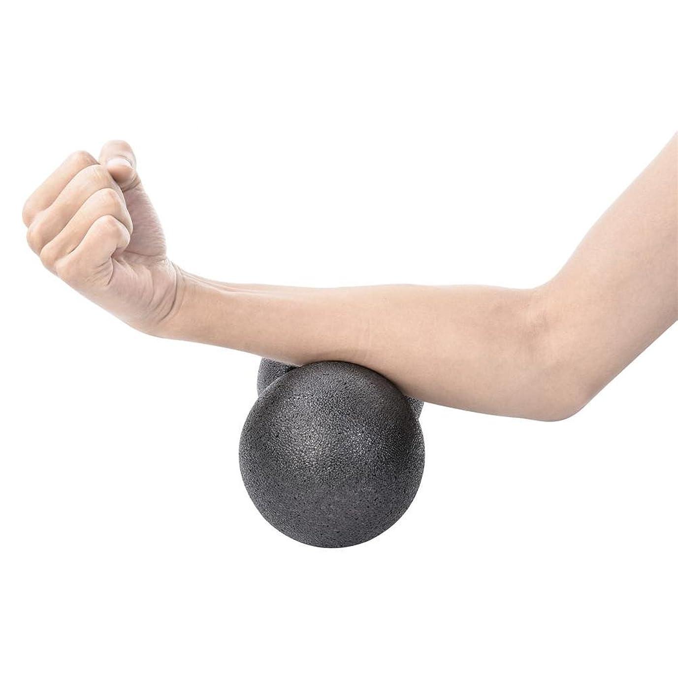 ロイヤリティライオン絞る硬め マッサージボール ストレッチボール 疲れ解消ボール ピーナッツボール ツボマッサージボール ツボ押しグッズ ふくらはぎ 足裏 トレーニング 背中 肩こり 腰