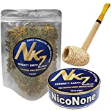 Missouri Meerschaum Pipe & NicoNone Herbal Smoking Blend 20g Tin & 1 oz Refill Bag (Serenity Earth)