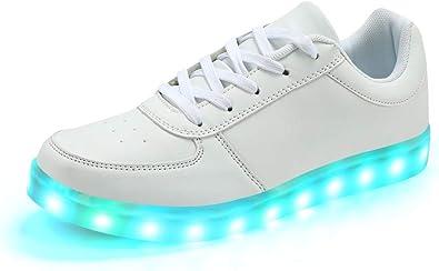 Padgene Scarpe da Ginnastica da Donna Uomo Unisex con luci a LED e luci Lampeggianti, con Ricarica USB, per Coppie