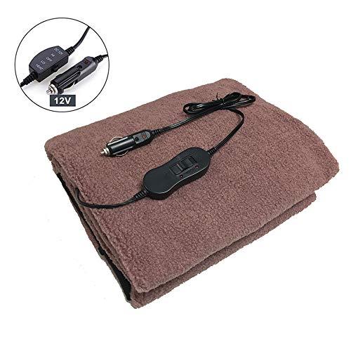 Langyinh Elektrische deken, 12 V, met 53 inch snoer voor het verwarmen van je auto, vrachtwagen, SUV sigaretaansteker, goed voor koud weer, reizen, camping