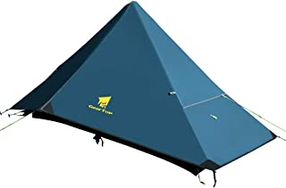GEERTOP Lightweight 1 Person 4 Season Tent for Backpacking Waterproof Single Person Camping Tent for Outdoor Travel Hiking Mountaineering - Easy to Set