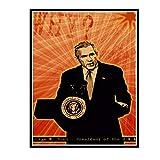 HJZBJZ Foto von George W. Bush Präsident von Amerika Retro
