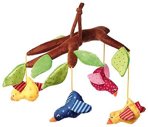 SIGIKID Mädchen und Jungen, Mobile Vogelast Hangons, Babyspielzeug, empfohlen ab 0 Monaten, mehrfarbig, 40946