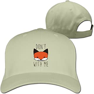 RZMY LY Fox Don't with Me-01 Unisex Pure Color Baseball Cap Washed Adjustable Peaked Hats