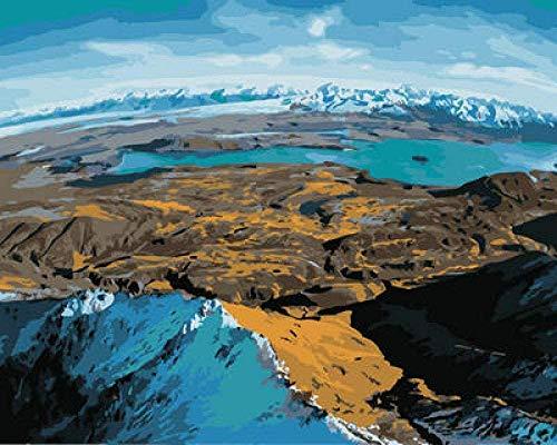 Zaosan Malen Nach Zahlen mit Blick Auf den See DIY Malerei Ölgemälde Kinder Kunst Geschenk Dekoration Größe 40x50cm (ohne Rahmen)