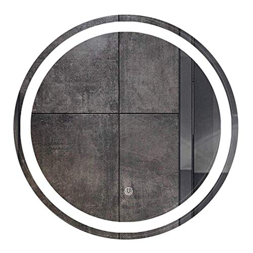 Pursue Espejo con luz LED Cuarto de baño de Pared sin Marco Redondo Moderno retroiluminado Vanidad (Size : 60cm)