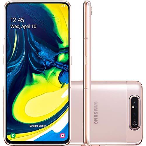 """Celular Samsung Galaxy A80 Rose 128gb 8gb Tela 6,7"""" Câmera Tripla Rotativa 48mp + 8mp + Tof"""