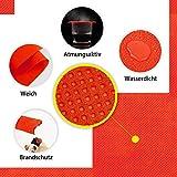 LONGING HOME Tischdeckenrolle, 1.2 × 25M, Rot, Einweg Vlies Stoffähnlich Tischdecke Rolle, Meterware Tischtuchrolle, Geeignet Für Geburtstag, Party, Deko - 3