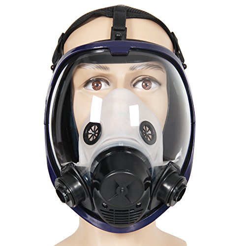 Masque à gaz intégral pour le visage - 2en 1- 6800 - En silicone - Pour la pulvérisation, la peinture