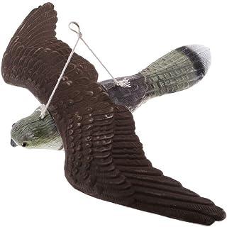 Resin Realistic Flying Hawk Owl Decoy Garden Scarer Scarecrow Weed Pest Control