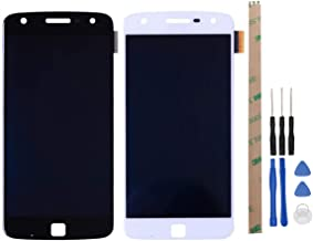 HYYT Replacement for Motorola MOTO Z Play XT1635-02 XT1635-01 LCD Display and Touch Screen Digitizer Glass Replacement Full Assembly(white)