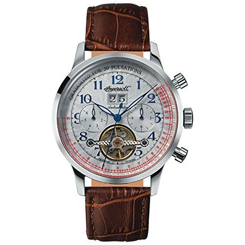 Ingersoll Herren Analog Automatik Uhr mit Leder Armband IN2002WH
