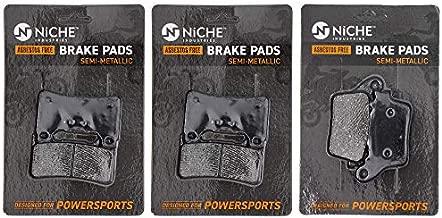 NICHE Brake Pad Set for Honda CBR600RR CBR1000RR CBR600R 06455-MEL-D23 06455-MFJ-D02 Complete Semi-Metallic