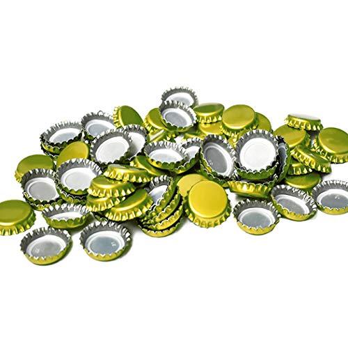 144 count Beer Bottle Crown Caps,Beer Bottle Cap,Decorative Bottle Caps,Gold Oxygen Barrier Crown Caps (Cap,Glod)