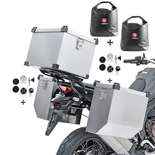 Set Maletas Laterales Aluminio Atlas 36-41l + baul 45l + Bolsas + Kit