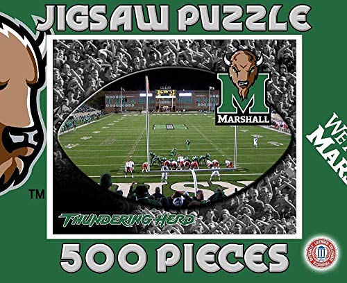 HZJINGg Holzpuzzle 1000 Stück,Marshall Thundering Herd 1000-Teiliges Puzzle