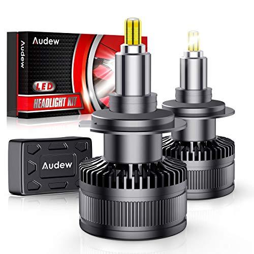 Audew H7 LED Lampadine 36SMD 360° Chips Lampade a Fari LED H7 Kit 10000lm 12V 6000K Sostituzione per Luci Abbaglianti e Anabbaglianti Bianco