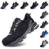 Zapatos de Seguridad Hombre Trabajo Comodos Mujer con Punta de Acero Ligeros Calzado de Industrial y Deportivos Transpirable Negro 42 EU