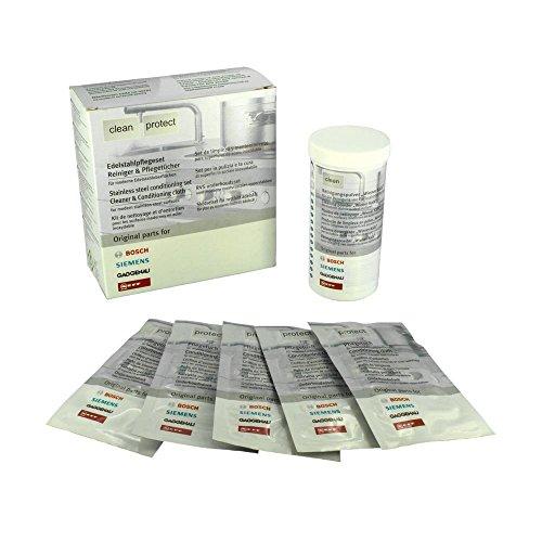 Bosch 00311775 Edelstahlpflegeset - Reiniger und Pflegetücher