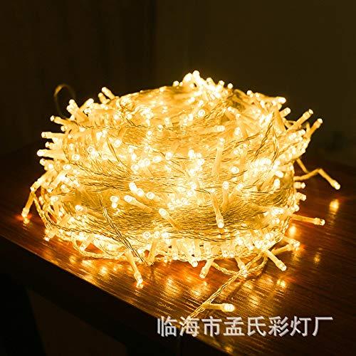 LED-lampen knipperen lichtketting festival buiten waterdicht heldere hemel tekenreeks van sterren, 20 meter 200 lampstekker met staart, paars