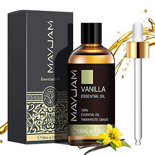 MAYJAM ätherische Öle Vanille 100 ml, 100% Reine Natürliche ätherische Öle, ätherisches Aromatherapieöl von Therapeutischer Qualität, Duftöle für Diffusor,...
