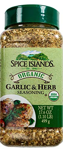 Spice Islands Organic Garlic & Herb Seasoning, 17.6 Ounce