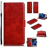 Phone Flip Case Étui portefeuille pour Samsung Galaxy S7, Vintage Premium PU Boîtier de...