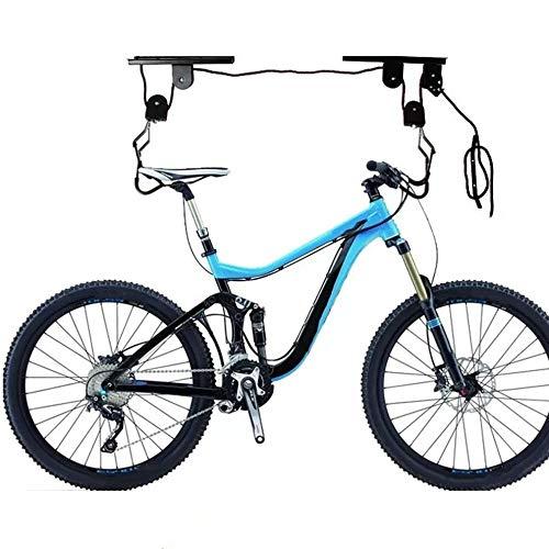 Fahrrad-Bike-Lift, Fahrradlift, bis 50 kg, Mountainbike-Ständer, Fahrraddeckenhalter/Mountainbike-Federung, schwarz.