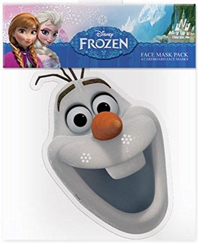 Kids Stars Die Eiskönigin - Völlig unverfroren (Frozen) - Olaf - Gesichtsmasken aus steifen Karten - Offizielles Produkt von Disney