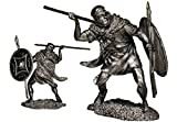 Military-historical miniatures Roman Veles Tin Metal 54mm Action Figures Toy Soldiers Size 1/32 Scale for Home Décor Accents Collectible Figurines Item #P205