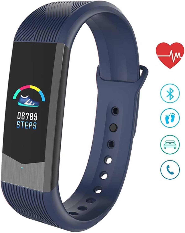 Fitness Tracker, Heart Rate Monitor Activity Tracker Smart Watch Waterproof IP67 Blood Pressure Pedometer Fitness Watch Sleep Monitor Smart Bracelet,blueee