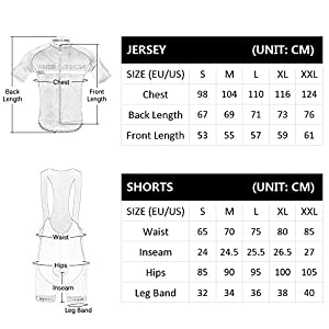 Lixada Traje de Ciclismo Hombre, Conjunto de Camiseta de Manga Corta MTB Transpirable para Verano y Otoño, Jersey + Pantalones Cortos y Babero Acolchado para Ciclismo Deportes al Aire Libre (Negro, L)