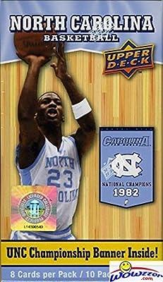 2010/11 Upper Deck UNC North Carolina Exclusive Factory Sealed Box with Michael Jordan UNC Cards