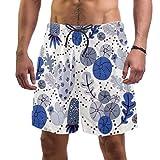 Eslifey - Costume da bagno da uomo con pantaloncini da spiaggia, diversi paesaggi, elastici Multi XL