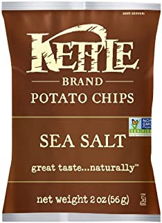 Kettle Brand Potato Chips, Sea Salt, 2 Ounce Bags (Pack of 24)