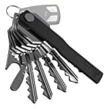 Clips Mini Key Organizer Smart Compact Holder Keychain Made of Robust Aluminum & Stainless-Steel Alloys, Pocket Clip Organizer Up to 12 Keys- New Patented Design, Includes Bottle Opener