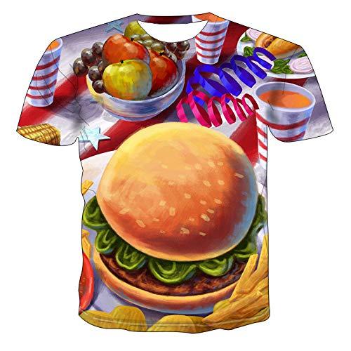 NSBXDWRM 3D Printed Shirts,Unisex 3D Print Shirts Creatieve Voedsel Burger Fruit Grafische Zomer Tees Voor Mannen Vrouwen Tieners Sweatshirts Top