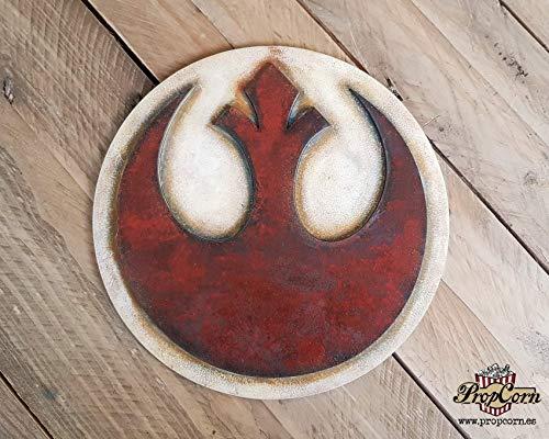 STAR WARS Alianza Rebelde logo. Cartel en madera para decorar. Skywalker, Han Solo, Rogue One, Organa, Jedi, Ahsoka, Chewbacca, Ackbar