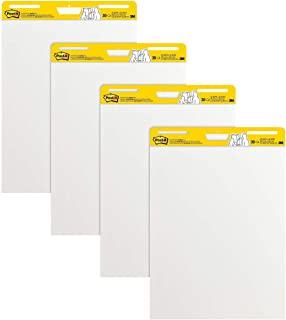 Post-it Super Sticky Easel Pad, 25 x 30 Inches, 30 Sheets/Pad, 4 Pads, Large White..