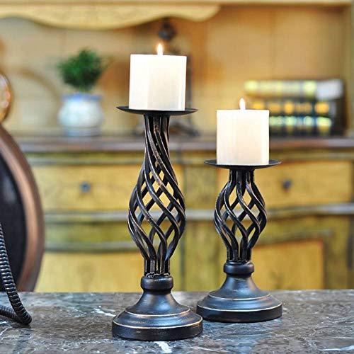 KKNIH Kerzenhalter Vintage Metall Kerzenhalter Für Geschmiedete Kerzenhalter Hohlsäule Kerzenständer Home Decoration, Höhe 8,07 Zoll