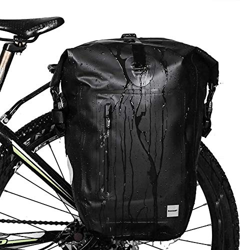 Rhinowalk Bike Bag Waterproof Bike Pannier Bag 25L,(for Bicycle Cargo Rack Saddle Bag Shoulder Bag...