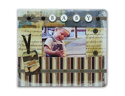 SAILINGSTORY Baby Photo Album 4x6 with Memo Space 160pockets, Photo Album for Baby, Baby Memory Book, Baby Photo Book