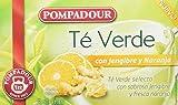 Pompadour Té Verde Jengibre y Naranja - Pack de 5 (Total: 100 bolsitas)