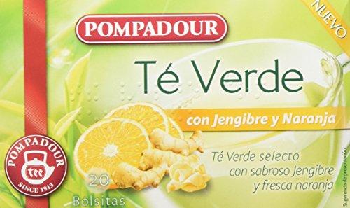 Pompadour Té Verde Jengibre y Naranja -...
