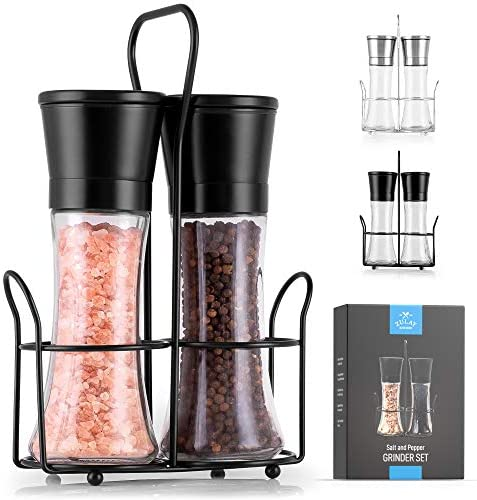 Zulay Large Salt and Pepper Grinder Stainless Steel Salt and Pepper Grinders Refillable with product image