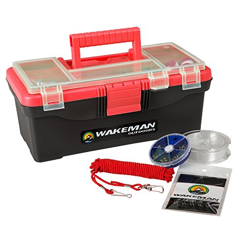 Wakeman Outdoors 55 Piece Fishing Tackle Box Kit Now $14.99 (Was $26.99)