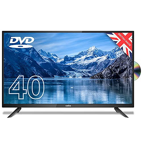 """Cello ZF0204 40"""" inch Full HD LED TV with Built-in DVD player and Freeview HD Built in Satellite receiver Made in the UK"""