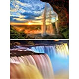 GREAT ART 2er Set XXL Poster – Wasserfälle –
