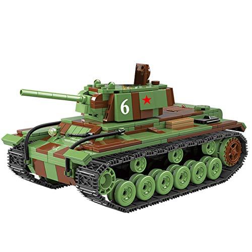 Fujinfeng Tanque Militar Juguete, 768 Piezas Tank Toy Tanque Construcción - Compatible con Lego (Este Producto no es Creado ni Vendido por Lego) - Soviet Military KV-1 Tracked Heavy Tank
