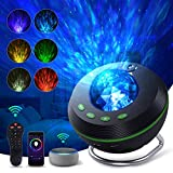 Smart WiFi Star Projector,Ocean Wave Galaxy Projector Works with Alexa & Google Assistant, Night Light Projector with Speaker for Bedroom Ceiling Theatre,Voice/Remote/APP Control